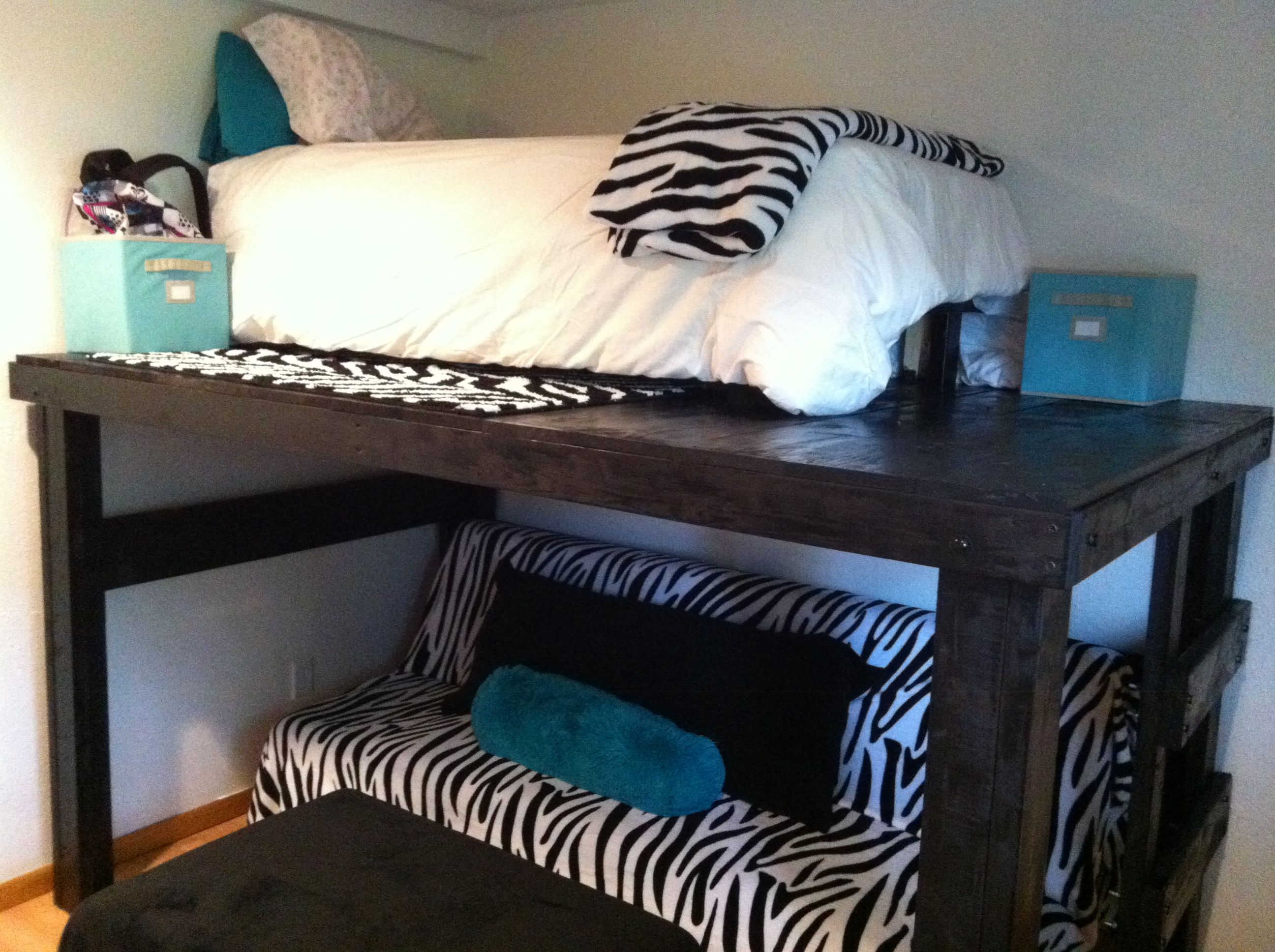 Zebra bed. What a weekend should be   Greg Skoog